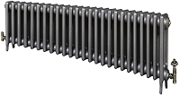 Eastgate Victoriana 3 Column 25 Section Cast Iron Radiator 450mm High x 1539mm Wide - Metallic Finish